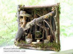 Twig Woodland Fairy House Nature Art Handmade by BetweenTheWeeds