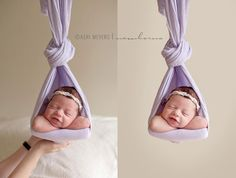 Tips for a Perfect Newborn Portraiture Shoot A large puck-style beanbag for posing – the firmer the better A backdrop stand for attaching fabric/blankets to 10 to 12 folded … Foto Newborn, Newborn Baby Photos, Newborn Posing, Baby Poses, Newborn Shoot, Newborn Pictures, Baby Pictures, Sibling Poses, Family Pictures