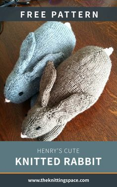 Henry's Cute Knitted Rabbit [FREE Knitting Pattern] - Knitting Projects Outlander Knitting Patterns, Animal Knitting Patterns, Free Knitting, Baby Knitting, Crochet Patterns, Knitting Toys, Loom Knitting, Crochet Gratis, Free Crochet