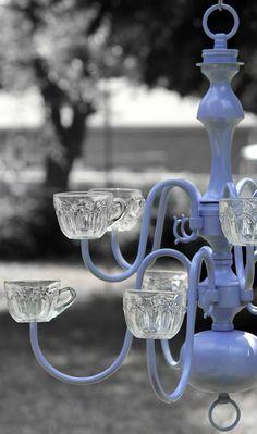 Elegant Chandelier Garden Planter - Perfect Patio Decor, Customize Your Color