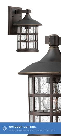 This Freeport Outdoor Lantern features a classic New England design in cast aluminum construction for timeless, traditional style. The oil rubbed bronze finish and the clear seedy glass adds to the visual interest of this Freeport lantern. Rated for wet locations, this fixture withstands all of nature's elements, making it a perfect choice of outdoor lighting.