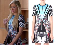 "Dalia Royce (Carly Chaikin) wears this print dress in Suburgatory episode ""I'm…"