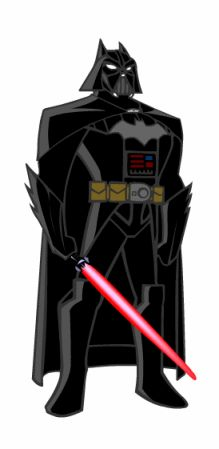 Darth Bat from Star Wars: The Empire of the Bat. The only thing wrong with this is that Batman would have a Black Lightsaber... just sayin.