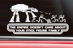 Star Wars Auto Aufkleber das Reich kümmert sich von TheRockingJay