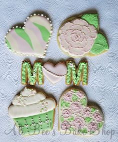 Mom, camoflauge, brushed embroidery cookies / biscuits and more!  Not keen on colour, but ideas are brilliant!