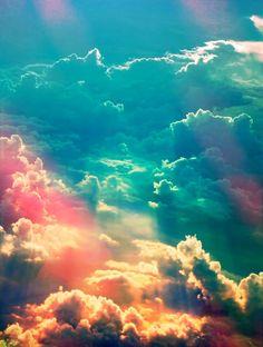 sky This looks like a unicorn sky so pretty! $$