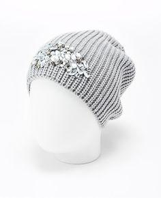 Embellished Knit Hat | Ann Taylor
