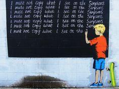 http://streetheart-berlin.de  Dieses Streetart Motiv stammt von dem wohl berühmtesten Street Artist der Szene - dem aus Bristol stammenden Banksy, der sich trotz mehrerer Millione