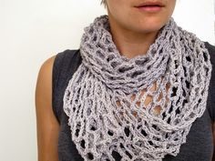 Current crochet project. A net infinity scarf/cowl. Lightweight and easy to make.