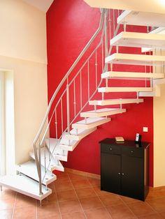 mit segeltuch abgesicherte treppe einer modernen stadtvilla mit loft charakter von eco system. Black Bedroom Furniture Sets. Home Design Ideas