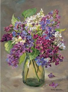 Lilac   Mill House Fine Art – Publishers of Anne Cotterill Flower Art: