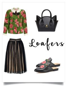 Fall Footwear Trend: Loafers by marinaova on Polyvore featuring Gucci, romantic, loafers, roses and backless
