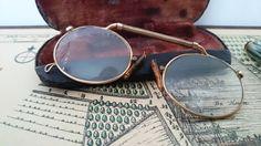 Vintage pince nez glasses antique / Mooie antieke door RVHills, €32.99