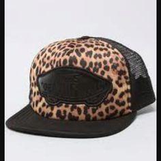1f7ff0f3bc5 The Beach Girl Trucker Hat in Black Leopard.