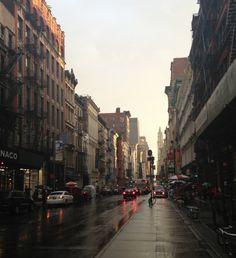 rainy new york city streets.