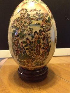 Hand Painted Oriental egg up for grabs on my Listia!