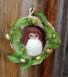 Waldorf inspired Owl Wreath
