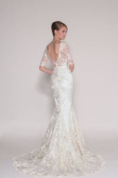 4011 Delia Long sleeve Lace wedding dress Eugenia Couture Spring 2016 Bridal Collection
