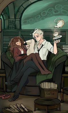 Harry Potter - Draco Malfoy x Hermione Granger - Dramione