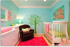 such a FUN and BRIGHT nursery!