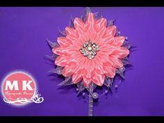 Мастер-класс Канзаши. Резинки для волос. Цветы из атласных лент/Flowers from ribbon.Scrunchy - YouTube