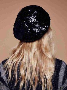 2c55944daf946 Sequin Beret Hats - sequin flower wool berets – the mimi boutique . endless  noir sequin