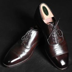Loake 1880s Brown Calf Captoe shined.