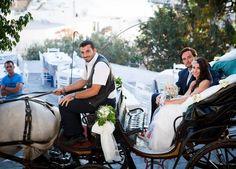 Organise your wedding in the Greek island of Naxos. Destination Wedding, Wedding Planning, Horse Wedding, Horse Carriage, Greece Wedding, Crystal Clear Water, Greek Islands, Real Weddings, Wedding Reception