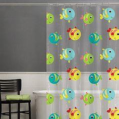 Gilligan Google Eye Fish PEVA Multicolor Shower Curtain