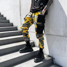 YJDMJJ Pantalones de ch/ándal Estilo Cargo de har/én Streetwear japon/és Carog Pantalones Monos Hombres Hip Hop Color Block Joggers Pantalones Deportivos Pantalones de ch/ándal Hombre