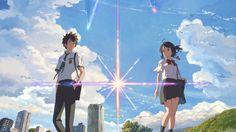 Your Name. Anime Taki Tachibana and Mitsuha Miyamizu Wallpaper