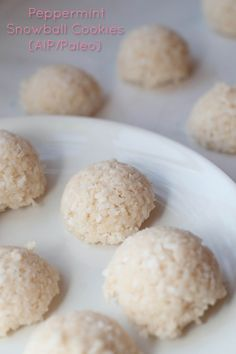 Peppermint Snowball Cookies (AIP/Paleo)