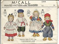 Vintage 1940's McCall Russian and Dutch by MuddyRiverAntiques
