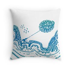Moana, Maui, tattoo, blue, hombre, pillow, Disney, princess, home décor Hawaiian tribal samoa pattern