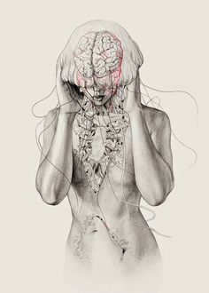 I am really loving anatomical drawing, particularly this by Elisa Ancori