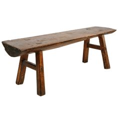 Early 20th Century Primitive Rustic Bench
