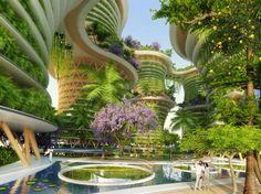 ARCHITECTURE - Et si, dans 10 ans, nous vivions dans des tours en bois et mangions des fruits et légumes produits sur nos balcons? C'est l'idée derrière le dernier projet de l'architecte belge Vincent...