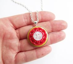 Vintage button necklace pendant silver buttons by realicoul, £14.00
