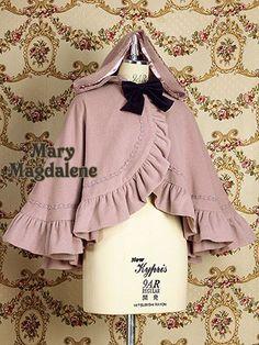 Cloak with hood #lolita #pink