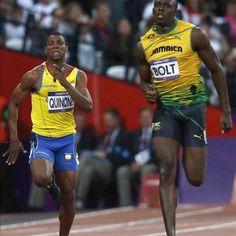 ALEX QUIÑONES EN FINALES 200M JUEGOS OLÍMPICOS LONDRES 2012
