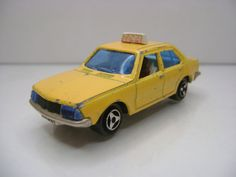 Diecast Majorette Renault 18 Taxi No. 266 Yellow Good Condition