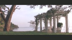 """I like the idea of this arbor -- from the movie """"Practical Magic"""" -- and the background ocean view isn't bad either..."""