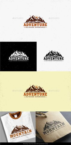 PSD Mountain Adventure Logo  Template • Only available here ➝ http://graphicriver.net/item/mountain-adventure-logo/16423281?ref=pxcr