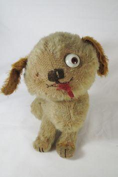 Rare Antique Einco Mohair Tubby Dog Teddy Bear #Einco