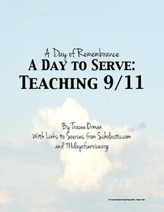 9/11 Service Project & Writing Prompt - FREE Download