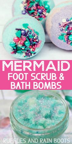 DIY Mermaid Spa Day Oh wow - these are gorgeous! The scrub only takes 5 minutes and the bath bombs I made and gave away to a few friends. This was seriously the best spa day at home ever - the kids and I all loved it! Spa Day Party, Girl Spa Party, Spa Birthday Parties, Kids Pamper Party, 10th Birthday, Spa Day For Kids, Spa Day At Home, Kinder Spa Party, Diy Spa Tag