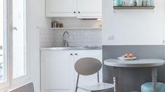 les 25 meilleures id es de la cat gorie petites cuisines ouvertes sur pinterest dispositions. Black Bedroom Furniture Sets. Home Design Ideas