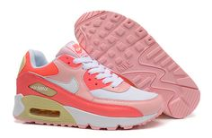 Women's Nike Air Max 90 A  Max 90 White/Pink|only US$89.00 - follow me to pick up couopons.