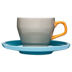 POP Coffee Cup And Saucer Brown