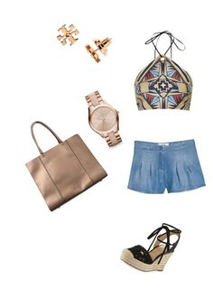 """""""Sin título #133"""" by shary-elivo on Polyvore featuring moda, MANGO, Topshop, MICHAEL Michael Kors, Rebecca Minkoff, Michael Kors y Tory Burch"""